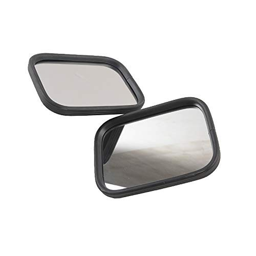 AL4X4 Square Doorless Rear View Door Off Quick Release Side Mirrors for Jeep Wrangler JK JKU JL JLU CJ YJ TJ