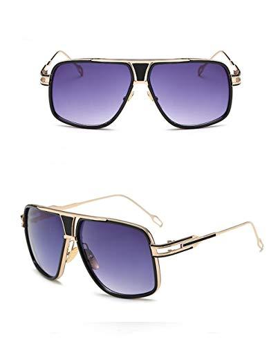 Fliegend de Metal Ligero Unisex Hombre UV400 de para Retro Polarizadas Espejo Súper Gafas Montura con Gafas Gafas Mujer Púrpura Lente Sol Vintage de Sol AWrFTAfU