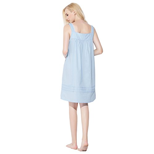 Dorekim Damen Nachthemd weiß weiß L/XL