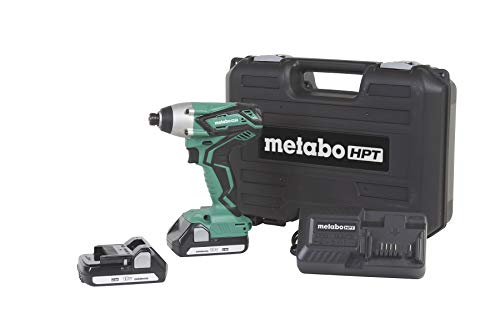 """Metabo HPT WH18DGL 18V Cordless Impact Driver Kit, Two Lithium Ion Batteries, Powerful 1, 280 In/Lbs Torque, Responsive Variable Speed Trigger, LED Light, Keyless ¼"""" Chuck, Lifetime Tool Warranty"""