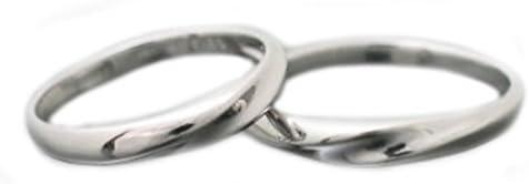 ペアリング K10 ホワイトゴールド リング マリッジリング 2本セット 結婚指輪 日本製
