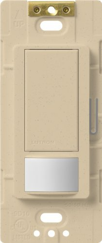 - Lutron Maestro Motion Sensor switch, no neutral required, 250 Watts Single-Pole, MS-OPS2-DS, Desert Stone by Lutron