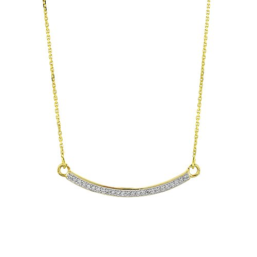 Curved Diamond Necklace - 5