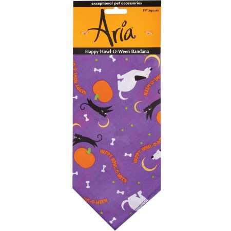 Aria Happy Howl-O-Ween Bandanas for Dogs,