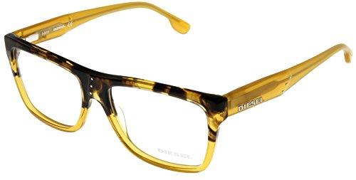 Diesel Prescription Eyeglasses Frame Unisex Havana/ Yellow ...
