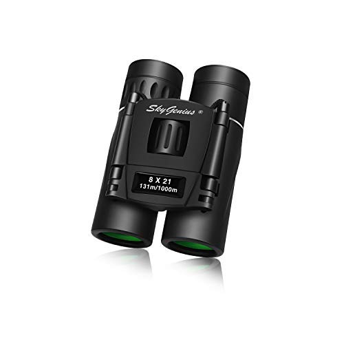 Skygenius 8x21 Small Binoculars Compact Lightweight For Concert Theater Opera Mini Pocket Folding Binoculars with Fully Coated Lens For Travel Hiking Bird Watching by SkyGenius