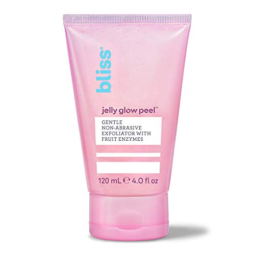 Bliss Jelly Glow Peel, Gentle Non-Abrasive Exfoliator With Fruit Enzymes, Cruelty Free, Made Without Parabens, 4 ounces