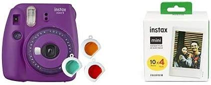 Fujifilm Instax Mini 9 - Cámara instantanea, Morado + Pack de 40 películas: Amazon.es: Electrónica
