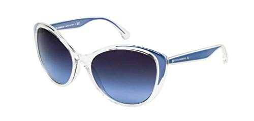 Dolce&Gabbana DG6075M Sunglasses-27118F Crystal (Gray Blue Gradient Lens)-58mm (Dolce And Men Gabbana For Clothes)