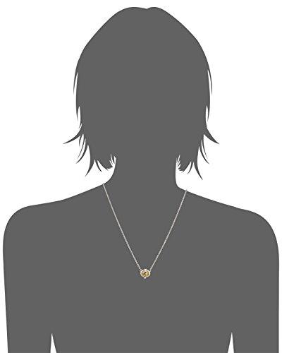 Judith Ripka Collier avec Pendentif Acier Inoxydable Argent 925/1000 Zircon cubique Jaune Femme 43cm