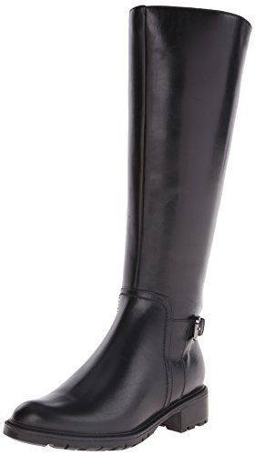 Blondo Women's Vassa Waterproof Riding Boot, Black Leather, 7.5 M US by Blondo