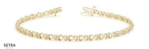 - SETRA Elegant Kiss and Hug Bracelet (0.33 cttw, Color G, Clarity VS2-SI1) (Yellow)