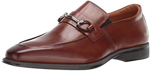 STACY ADAMS Men's Pierce Moe-Toe Slip-on Penny Loafer Cognac 10.5 M ()