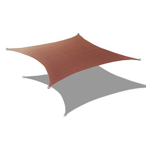 Alion Home 9.5' x 11' Rectangle PU Waterproof Woven Sun Shade Sail (1, Pecan Brown)