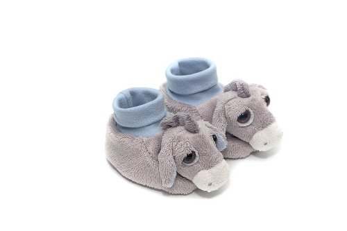 Azul Pablo Donkey suave bebé patucos calcetines – Lil Peepers