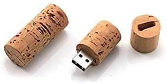 Vasara Memoria USB Tapón Botella Vino Corcho 4GB - Detalles Originales Invitados de Bautizo, Regalos Comuniones y Recuerdos para Cumpleaños