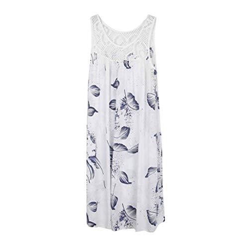 Adeliber Maxi Dress Women's Sleeveless Loose Plain Maxi Dresses Casual Long Dresses with Pockets White