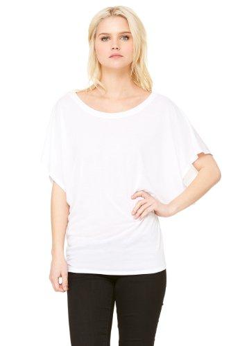 Zara Yoga Studio |LA| Women's Flowy Draped Sleeve Dolman Tee (Medium /White)