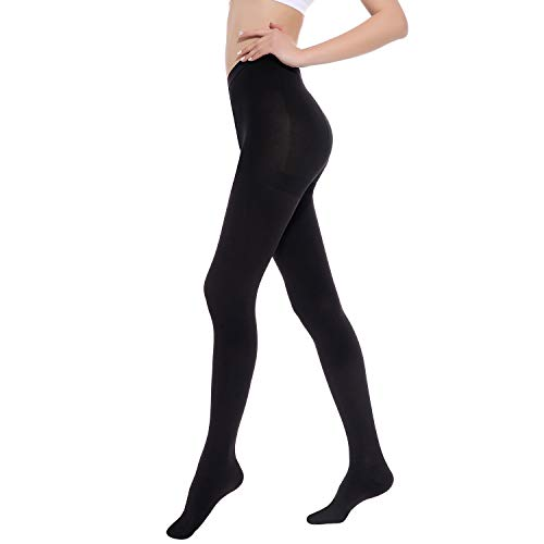 Medical Grade Compression Pantyhose (Close Toe) Women Men- Opaque Compression Stockings Pantyhose Support Patyhose Firm Graduated Support 20-30mmHg Helps Relieve Symptoms of Mild Varicose Veins