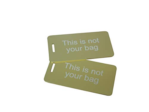 This is not your Bag, Luggage Tag Set of Two, With (Gold)