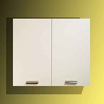 Mabel srl Pensile da 80 cm 2 Ante + ripiano Colore Bianco o Olmo, compra dal Produttore! (Bianco)