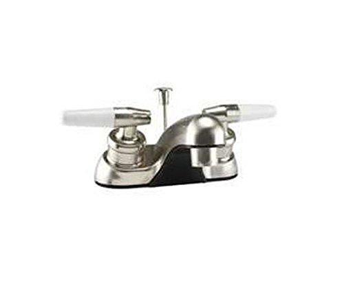 Hndl Lav Faucet - Toolbasix Lav Faucet 2-Hndl Popup Br Nic JY-4212PLQBN