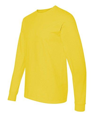Fruit of the Loom 6 oz.  100% Cotton Lofteez HD  Long-Sleeve T-Shirt -  YELLOW - XL - Buy Online in Oman.  6dda9dbcfbdb