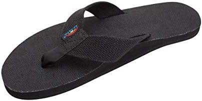 Size 9 Brand New Boys or Girls Black Kid Capes Nubuck Rainbow Flip Flops 10