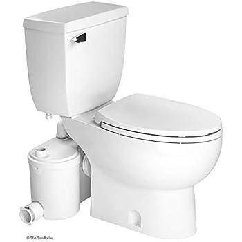 Saniflo SaniPLUS: Macerating Upflush Toilet Kit (with Standard Bowl ...
