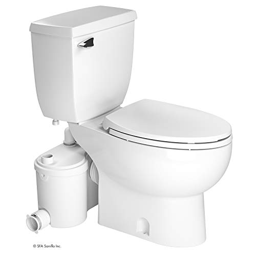 - Saniflo Sanibest Pro: Macerating Upflush Toilet Kit (with Elongated Bowl)