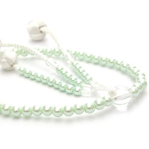 [해외]소카 학회 용 念珠 여성용 펄 그린 小田? 브라흐마 고급 술 SGI 묵 / Soka Society Memorial Beads For Women`s Pearl Green Odamaki Bonten Luxury Bunch SGI Beads
