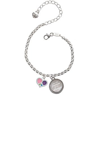 eace Sign You Will Forever Be My Always Engraved Bracelet (Peace Heart Bracelet)