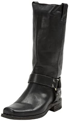 FRYE Women's Smith Harness Tall Boot, Black, 6.5 M US
