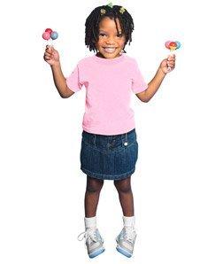 Rabbit Skins Toddler T-Shirt (Pink) (3T)