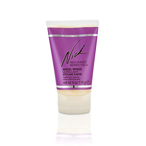 Nick Chavez Beverly Hills Angel Wings Ultra-Light Styling Paste for Styling All Hair Types - Creates Shape, Texture, and Definition - 4 oz -