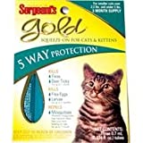 GOLD SQUEEZE-ON FOR CATS - Size: UNDER 5#/3PACK