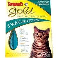 GOLD SQUEEZE-ON FOR CATS - Size: UNDER 5#/3PACK by DPD