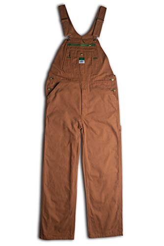- Liberty Men's Duck Bib Overall, Pecan, 54x30