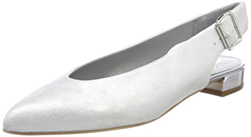 Maripé Damen 26411 Slingback Pumps Weiß (burma Ghiaccio/argento)