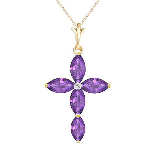14k Purple Cross - 1.23 Carat 14k 18
