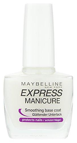 Maybelline New York Make-Up Nailpolish Express Manicure Nagellack Base Coat Repair Fluid / Glättender Unterlack zum Schutz der Nägel, 1 x 10 ml
