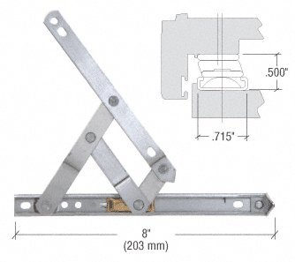 8'' 4-Bar Standard Duty Stainless Steel Friction Hinge by C.R. Laurence