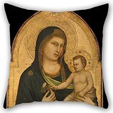 Artistdecor The Oil Painting Giotto - Madonna And Child Pillow Shams Of ,18 X 18 Inches / 45 By 45 Cm Decoration,gift For Bf,seat,boys,gril Friend,teens Girls,christmas (twice Sides)