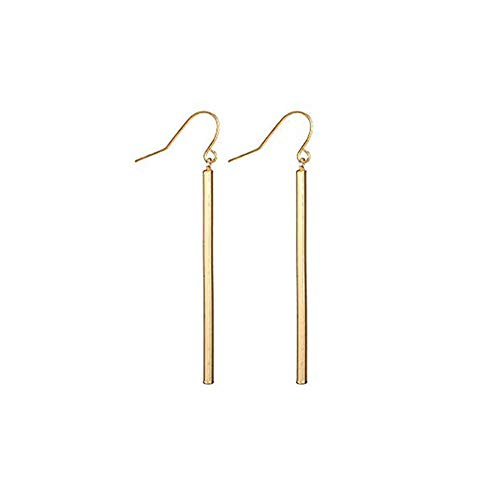 FAUOI Gold Vertical Bar Dangle Earrings for Women Girls Drop Earrings Hypoallergenic