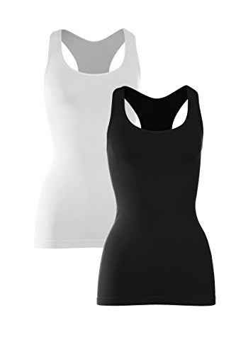 Kurve One Size Seamless Supersoft Racerback Tank -Made in USA-