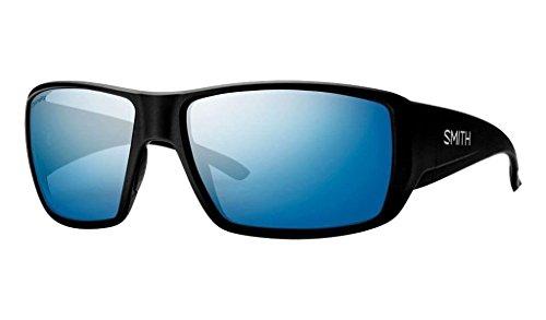 Smith Guides Choice ChromaPop+ Polarized Sunglasses, Matte Black, Blue Mirror Lens