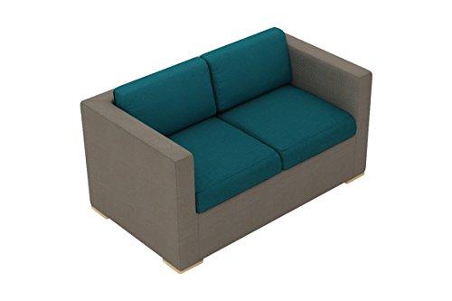 Harmonia Living HL-ELE-TP-LS-PC Element Sling Loveseat with Spectrum Peacock Cushions