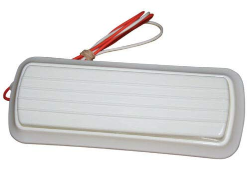 60-66 67-72 Chevy C10 White Interior Dome Lamp Inside Cab Light Lens Wiring Kit (Vintage Chevy Truck Parts)