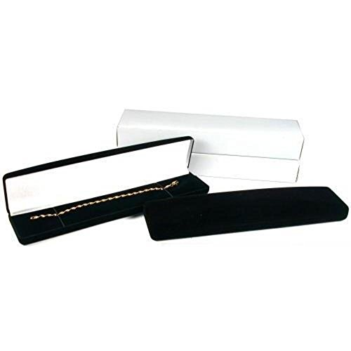 Bracelet Watch Gift Box Black Flocked Jewelry (Black Velvet Flocked Jewelry Display)