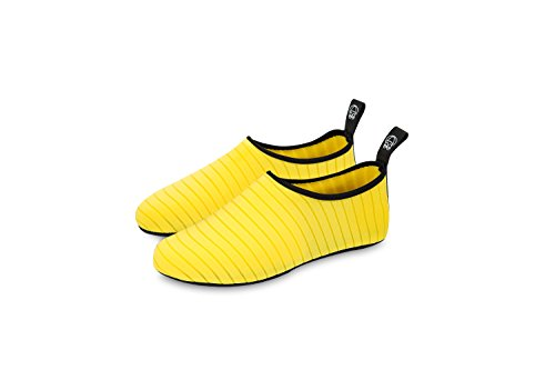 KORAMAN Mens Womens Stretchy Water Shoes Quick-dry Barefoot Anti-slip Aqua Socks for Swim Beach Yoga Yellow hLLfqrd